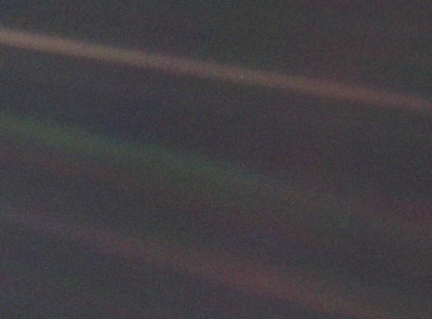 Solar System Portrain as 'Pale Blue Dot'